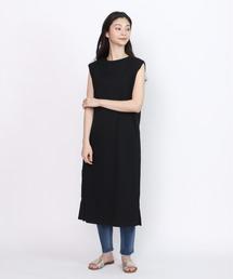 ワンピース ∴【Allumer/アリュメール】サイドオープンワンピース Honeycomb Side Open Dress|ZOZOTOWN PayPayモール店