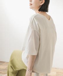 tシャツ Tシャツ F by ROSSO 袖切替Vネックカットプルオーバー|ZOZOTOWN PayPayモール店