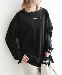 tシャツ Tシャツ 刺繍ロゴ ロングTシャツ|ZOZOTOWN PayPayモール店