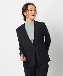 ジャケット ノーカラージャケット バックサテンツイルジャケット|ZOZOTOWN PayPayモール店