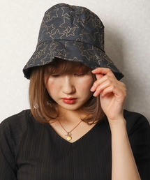 帽子 ハット 【je crois soi】星柄大 プリント帽子 バケットハットwomens ZOZOTOWN PayPayモール店