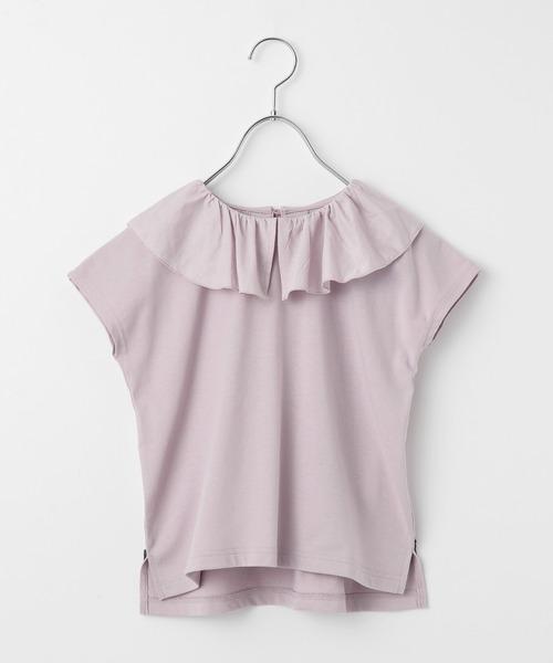 tシャツ Tシャツ キッズ 通常便なら送料無料 フリルカラープルオーバー半袖 おトク 948589