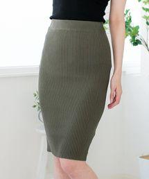 スカート スリットデザインリブニットタイトスカート/510333M|ZOZOTOWN PayPayモール店