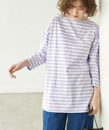 tシャツ Tシャツ 【ラク美Tee】【TRUE COTTON】ボーダーロングTシャツ|ZOZOTOWN PayPayモール店