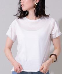 tシャツ Tシャツ 袖ボタンコットンカットソー ZOZOTOWN PayPayモール店