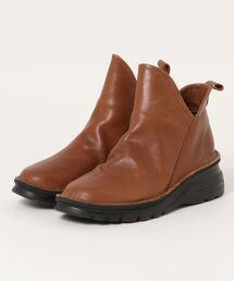 ブーツ マルメロ marmelo / 牛革サイドスリットショートブーツ|ZOZOTOWN PayPayモール店