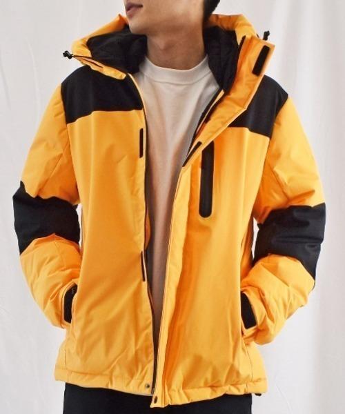 ダウン 高い素材 ダウンジャケット 人気海外一番 ストレッチフェイクダウン中綿フードジャケット