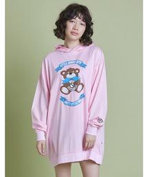 パーカー Cut bear print hoodie|ZOZOTOWN PayPayモール店