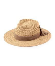 帽子 ハット 【CONTROL FREAK】 バックリボンラフィアハット ZOZOTOWN PayPayモール店