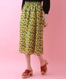 スカート シフォンフラワープリントスカート|ZOZOTOWN PayPayモール店