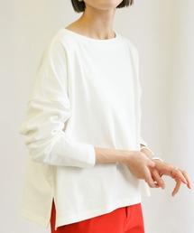 tシャツ Tシャツ 豊富なカラーバリエーション◆コットン100%ドロップショルダーボックスシルエット長袖ボーダーカットソー ZOZOTOWN PayPayモール店