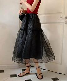 スカート lalaBorn/ドットチュールスカート ZOZOTOWN PayPayモール店