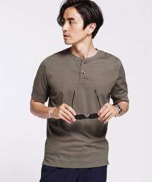 tシャツ Tシャツ 《汗染み防止》Anti Soaked ヘビーヘンリーネック Tシャツ|ZOZOTOWN PayPayモール店