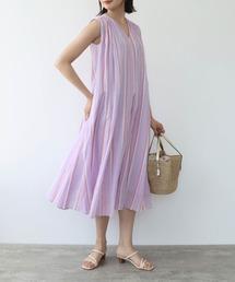ドレス 【NE QUITTEZ PAS/ヌキテパ】コットンボイルストライプペンシルノースリーブワンピース|ZOZOTOWN PayPayモール店
