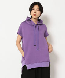 パーカー AULA AILA/アウラ アイラ/SLEEVELESS BACK PLEATED HOODIE|ZOZOTOWN PayPayモール店