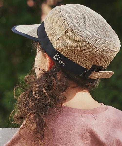 帽子 キャスケット 迅速な対応で商品をお届け致します ブランドロゴ入りサマーキャスケット 全品最安値に挑戦
