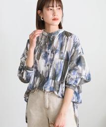 シャツ ブラウス 2021 SS ペイントデザインメンズライクシャツ ZOZOTOWN PayPayモール店