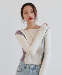 tシャツ Tシャツ (韓国トレンド10代、20代おすすめ)ユニークアンバランス配色クロップドTシャツ|ZOZOTOWN PayPayモール店
