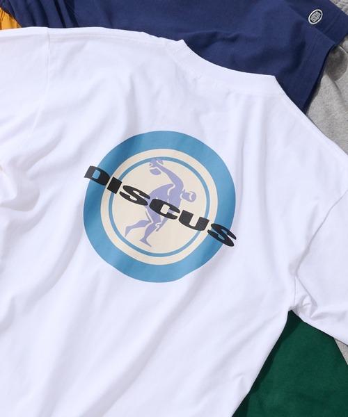 tシャツ 激安 Tシャツ ZOZOTOWN限定 DISCUS サークルロゴバックプリントTee 値引き ディスカス