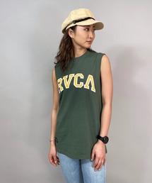 タンクトップ RVCA/ルーカ  ビッグシルエット  カレッジ風ロゴタンクトップ   BB043-382|ZOZOTOWN PayPayモール店
