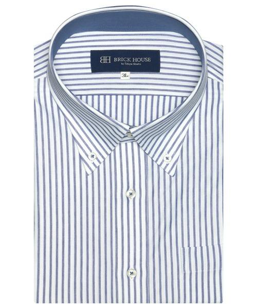 新作製品 世界最高品質人気 予約販売 ビズポロ 形態安定ノーアイロン ボタンダウン 半袖ビジネスニットワイシャツ