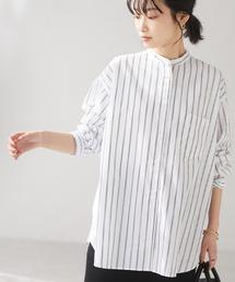 シャツ ブラウス バンドカラーシャツ *◇|ZOZOTOWN PayPayモール店