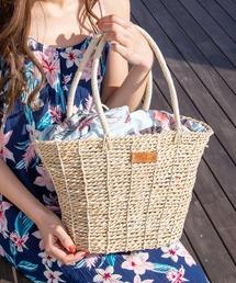 バッグ カゴバッグ 【Kahiko】トロピカルフラワー巾着かごバッグ|ZOZOTOWN PayPayモール店