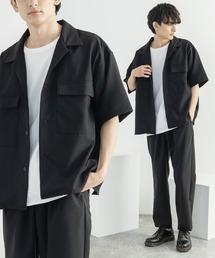 セットアップ 【セットアップ】ポリトロ 半袖オープンカラーシャツ ZIPシャツ&2タックアンクルイージーパンツ|ZOZOTOWN PayPayモール店