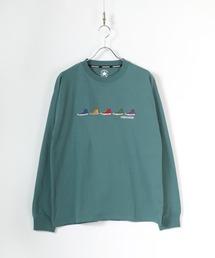 tシャツ Tシャツ ≪2021SPRING≫ CONVERSE/コンバース ワンポイントロゴ シューズ刺繍/袖刺繍 無地ロンT|ZOZOTOWN PayPayモール店