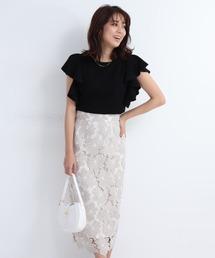 スカート 配色レースタイトスカート ZOZOTOWN PayPayモール店