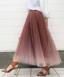 スカート グラデチュールプリーツスカート|ZOZOTOWN PayPayモール店