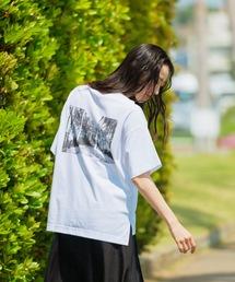 tシャツ Tシャツ 汗染み防止加工 前後差 サイドスリット バックフォトプリントTシャツ|ZOZOTOWN PayPayモール店