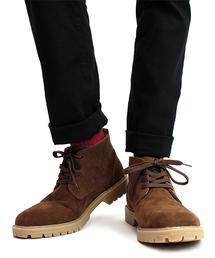 ブーツ スエードチャッカーショートブーツ|ZOZOTOWN PayPayモール店