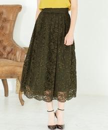 スカート スカラレースフレアロングスカート|ZOZOTOWN PayPayモール店