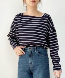 tシャツ Tシャツ ボーダースクエアネックプルオーバー|ZOZOTOWN PayPayモール店