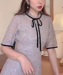 ドレス 総レースベロアリボン花柄ドレス・ワンピース|ZOZOTOWN PayPayモール店