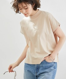 tシャツ Tシャツ 【ラク美Tee】【TRUE COTTON】モックネックフレンチトップス|ZOZOTOWN PayPayモール店