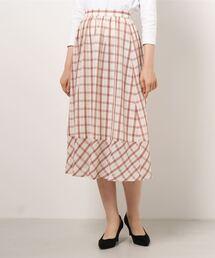 スカート スラブカラミチェック スカート ZOZOTOWN PayPayモール店