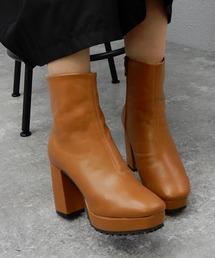 ブーツ チャンキーヒール厚底ミドルブーツ ■|ZOZOTOWN PayPayモール店