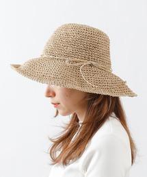 帽子 ハット 手編みつば広ペーパーハット|ZOZOTOWN PayPayモール店