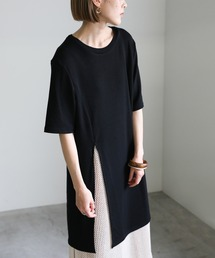 tシャツ Tシャツ 2021 SS スリットデザインサマーニットハーフスリーブトップス ZOZOTOWN PayPayモール店